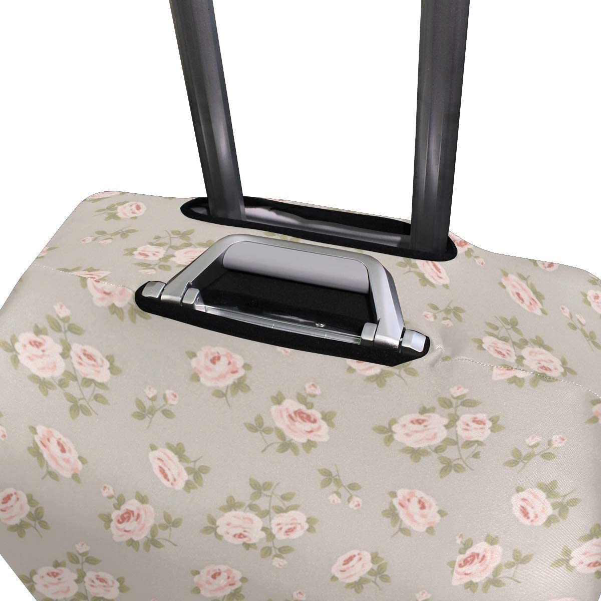 Many Small White Roses Traveler Lightweight Rotating Luggage Protector Case Can Carry With You Can Expand Travel Bag Trolley Rolling Luggage Protector Case