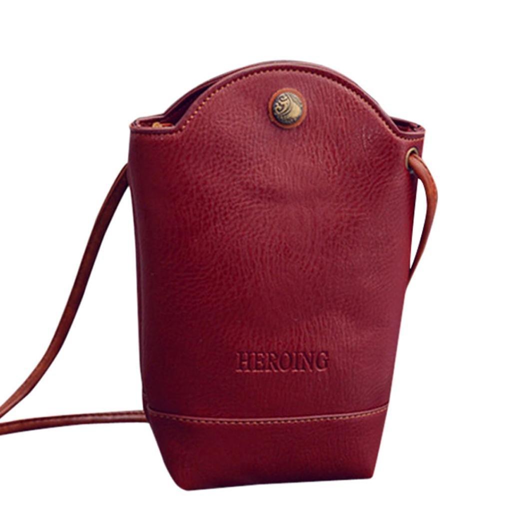 Women Heroing Shoulder Bag,Realdo Messenger Solid Slim Crossbody Small Magnetic Buckle Handbag Body Bags