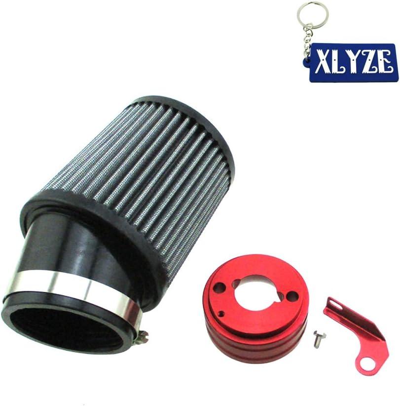 XLYZE Air Filter & Adapter Kit For 6.5 HP Honda Clone GX160 GX200 Go Kart
