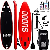 Inflatable SUP Stand Up Paddle Board Paddle(6 in Thick) Universal Accessories Wide Stance