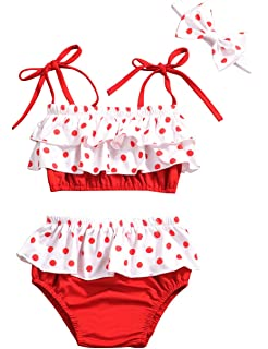YAO Baby Girl Swimwear/&Hat 2 Pieces Set Swimsuit Princess Skirt Angel Wing Suit