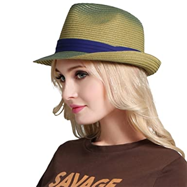 a23ba32ff Aloiness Panama Summer Vintage Style Seagrass Hat Sun Hat for Women ...