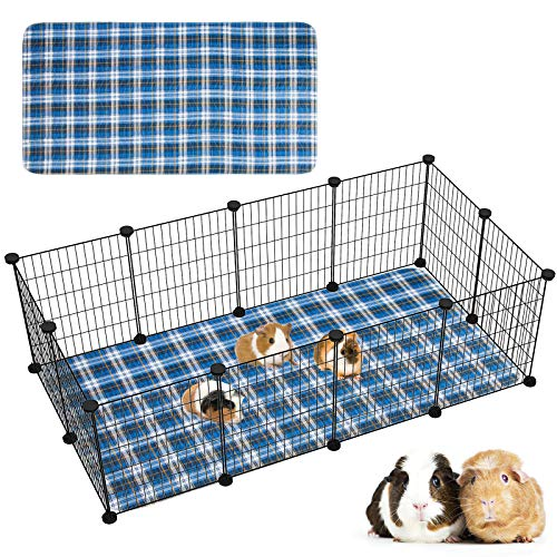 Geegoods Guinea Pig Cage Liners Guinea Pig Bedding Washable &Air Dried Pee Pads for Guinea Pig Fast Absorbent Waterproof Reduce Shrinkage Non-Slip