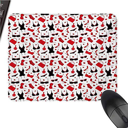 - FashionCustomize Mouse padFemale Vamp Sexy Print with Underwears Bras and Little Hearts ArtworkCustomized Mouse Pad 9.8