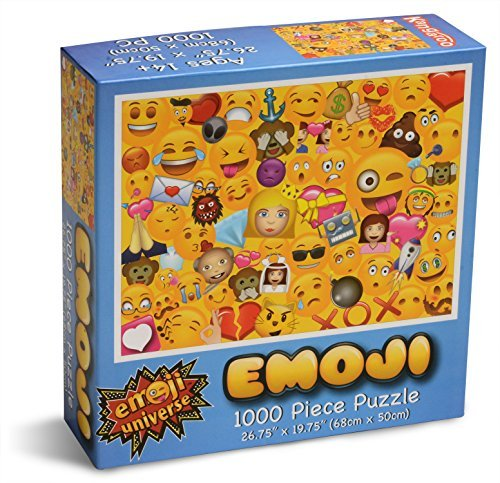 Emoji Universe: 1000-Piece Emoji Jigsaw Puzzle, Emoji Splash by Unknown