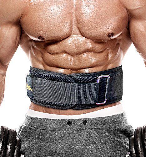 PeoBeo Fitness Weight Lifting Belt for Heavy Lifting Workouts | 6 Inch Power Weight Lifting Belt for Men and Women