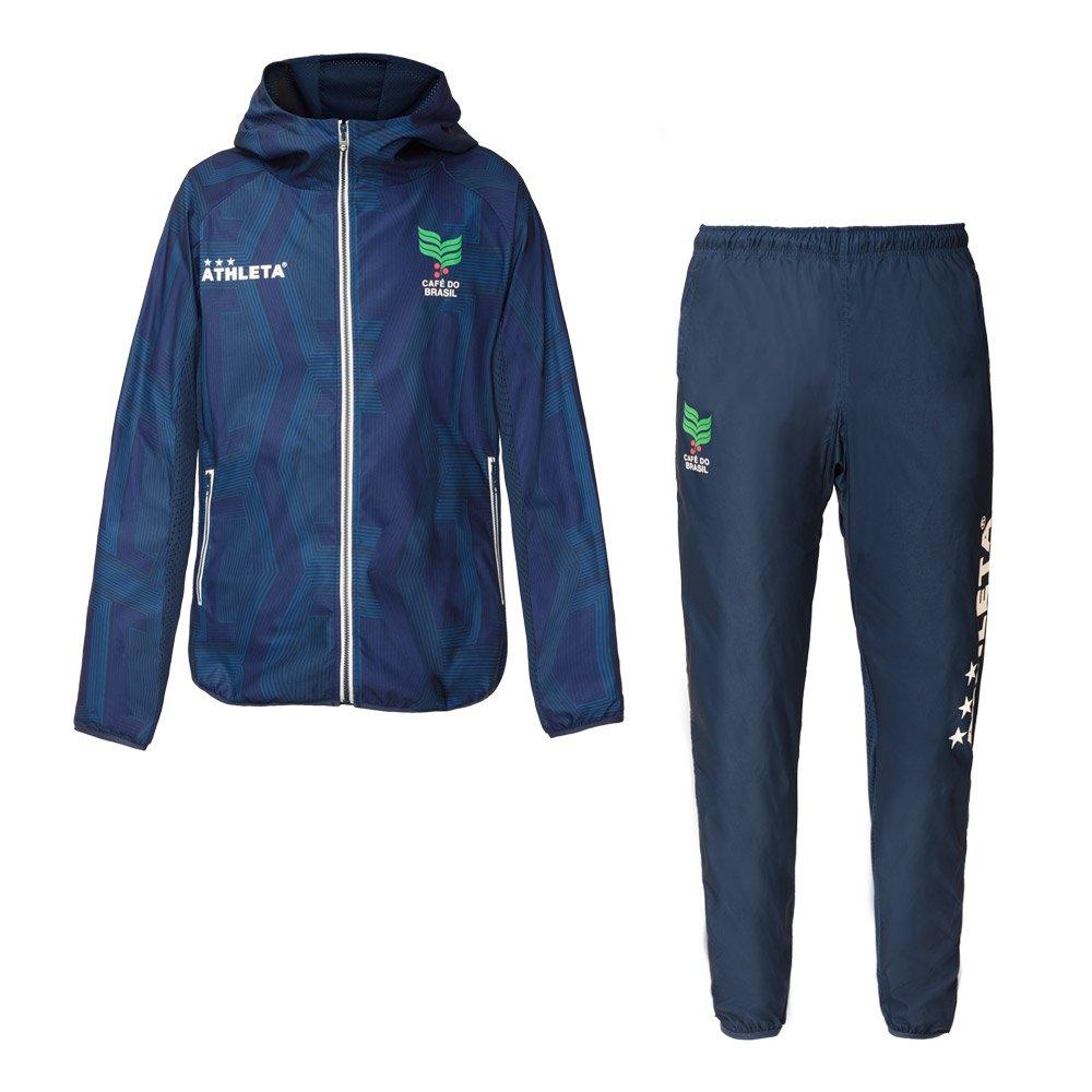 ATHLETA(アスレタ)ストレッチトレーニングジャケット/パンツ 上下セット サッカー フットサルウェア 04115/04116 B07B8T1NB3 Medium|NVY NVY Medium