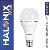 Halonix Inverter Led Bulb B22 9-Watt (Power Backup Upto 4 Hours),White
