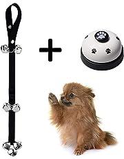 EYLEER Length Adjustable Dog Doorbells and Press Bell for Dog Puppy Potty Toilet House Training