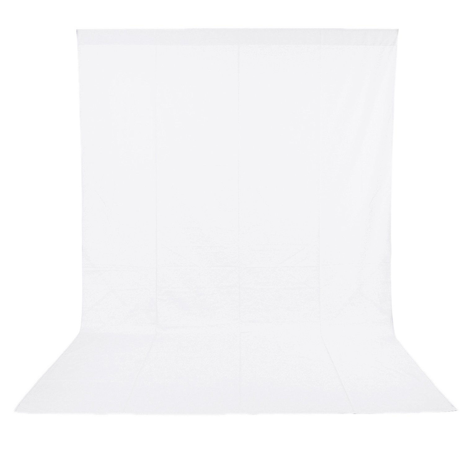 Neewer 6 x 9FT / 1.8 x 2.8M Photo Studio 100% Pure Muslin Collapsible Backdrop Background for Photography,Video and Televison (Background ONLY) - White by Neewer