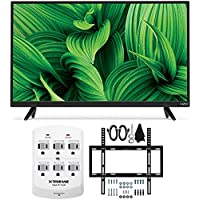 Vizio D-Series D32hn-E1 32 Class Full-Array LED TV w/ Flat Wall Mount Bundle includes TV, Flat Wall Mount Ultimate Kit and 6 Outlet Wall Tap w/ 2 USB Ports