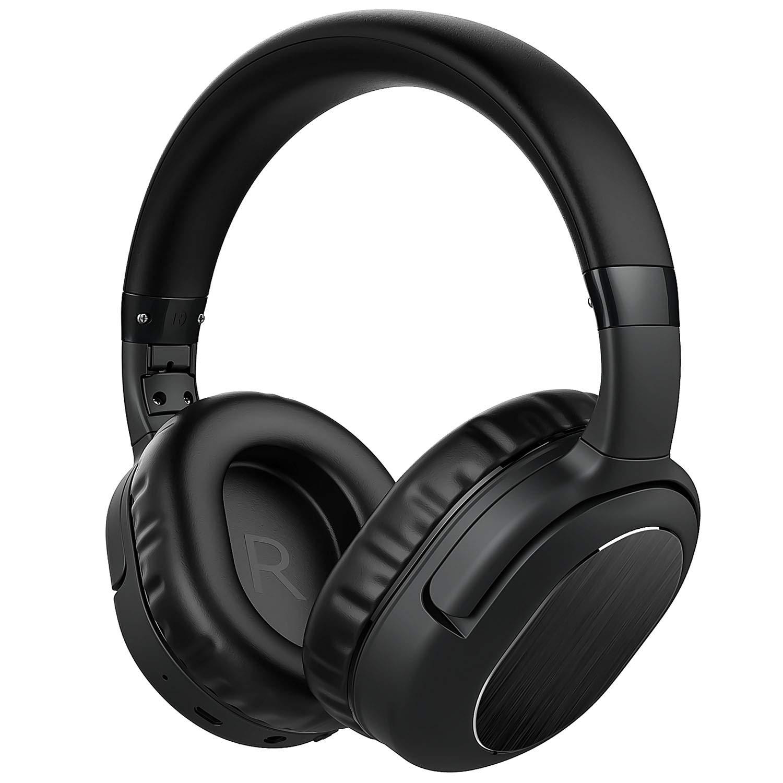 Auriculares Cancelacion de Ruido Activa con Microfono Deep Bass Inalambrico Plegable Over-Ear Confortable Protein Earpad