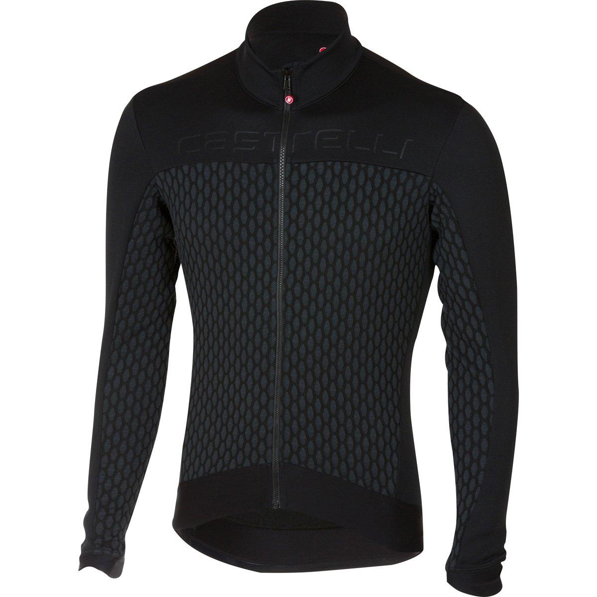 Castelli Sfida Long Sleeve Full-Zip Jersey Black 2018  Amazon.co.uk  Sports    Outdoors 111290dd3