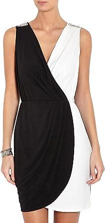 amazone robe femme blanc et noire