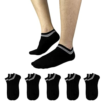 Clearance Low Ankle Cut Socks for Men No Show Sneaker Socks Casual Thin Cotton Socks Size 6-11 (5 Pack) at Men's Clothing store