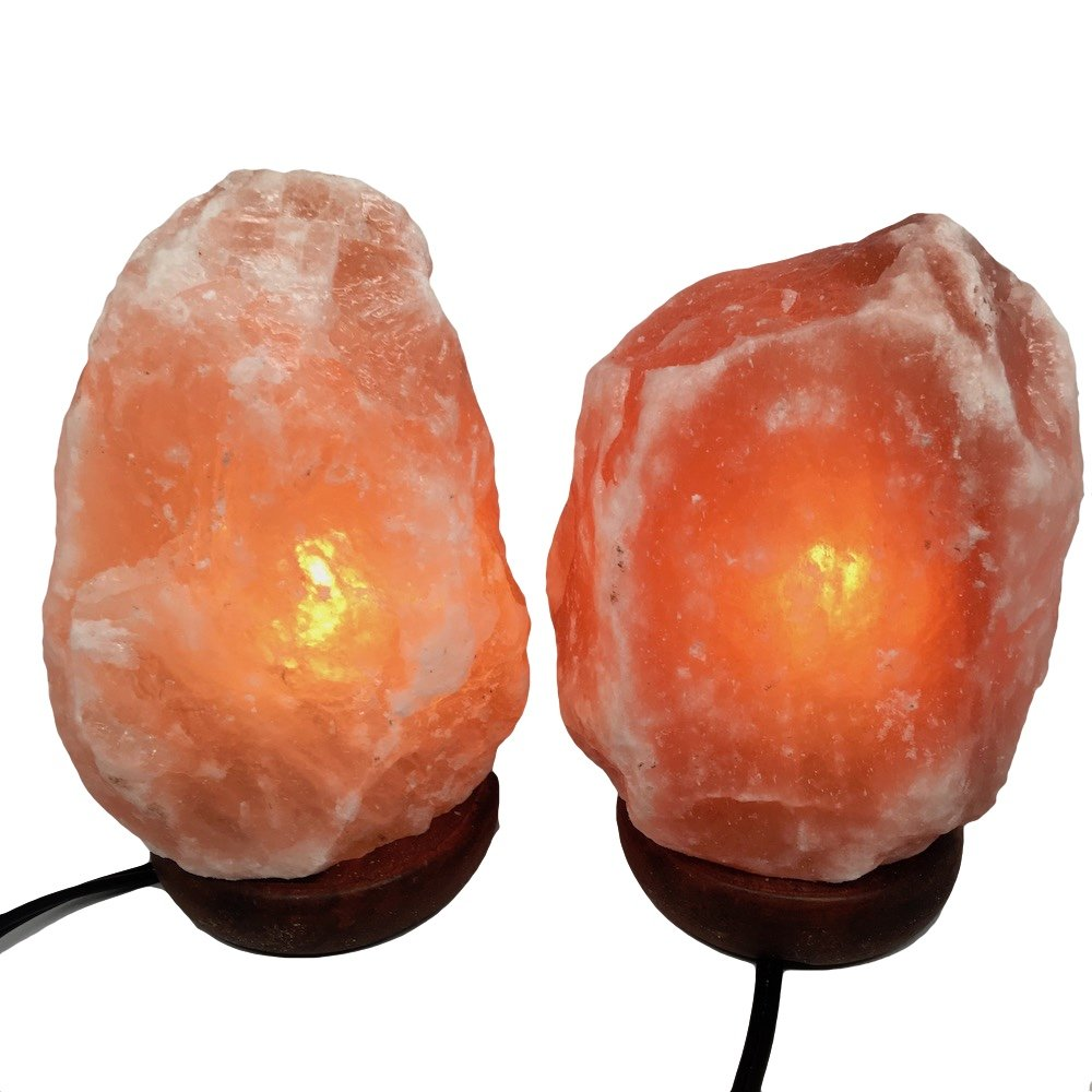2x Himalaya Natural Handcraft Rough Raw Crystal Salt Lamp 7''-7.5''Tall, X0102, Exact Item will be Delivered