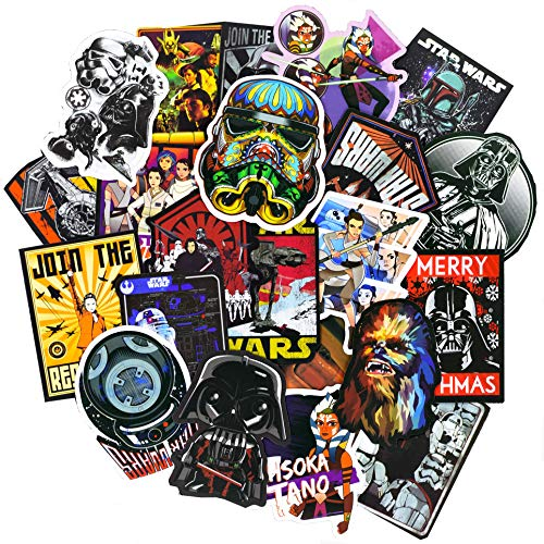 Stickers for Star Wars[100PCS], Cool Graffiti Bomb Sticker for Laptop Water Bottle Hydro Flask MacBook Car Bike Bumper Skateboard Luggage Phone, Waterproof Vinyl Decals for Movie Fans, Kids and Adult]()