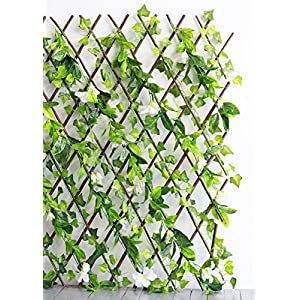 Events & Crafts Accordian Ivy Lattice Fence with Flowers 8' 1