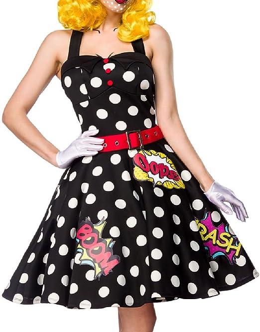 Mujer Pop Art Girl Vestido Disfraz Verkleidung con Vestido ...