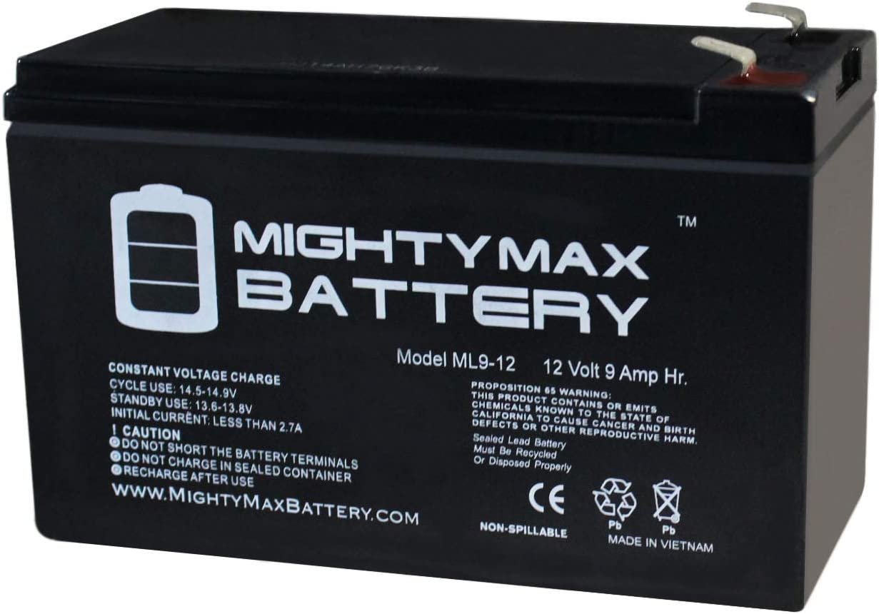 Mighty Max Battery 12V 9Ah Replacement UPS Battery for APC Back-UPS ES BE725BB Brand Product