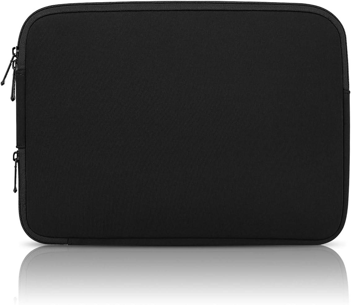 Arvok [Upgraded Version] 13-13.3 Inch Laptop Sleeve with Corner Zipper for Charging & Internal Pocket Water resistant Neoprene Notebook Computer Pocket Tablet Briefcase Carrying Bag (Black)
