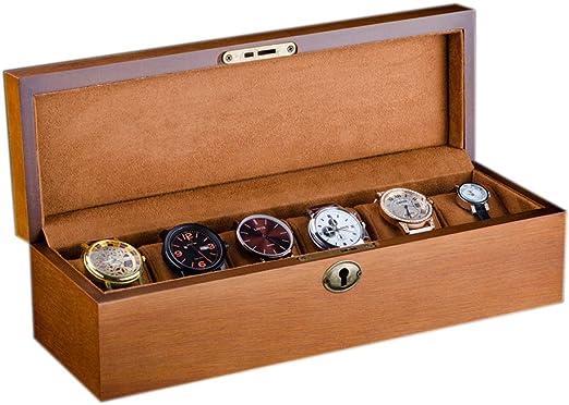 Vintage Caja de Reloj para 6 Relojes Compartimentos de Madera para ...