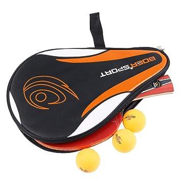 Kongnijiwa Mesa de Ping Pong Raquetas Bolsa de diseño de la ...