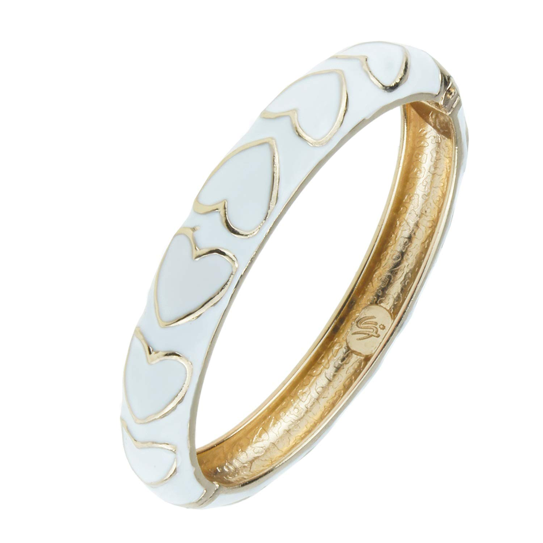 UJOY Womens Jewelry Colorful Cloisonne Bracelets Beautiful Enameled Hinge Cuff Bangles Gifts 55A44