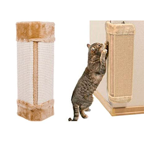 GOTOTOP rascador de Pared para Gatos, Esquina para Mascotas, sisal, Alfombra para Colgar