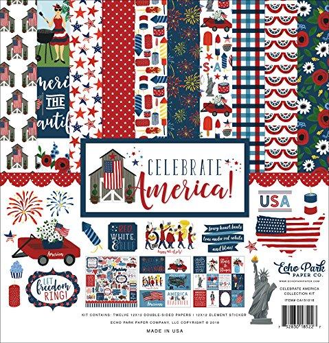 (Echo Park Paper Company Celebrate America Collection Kit)