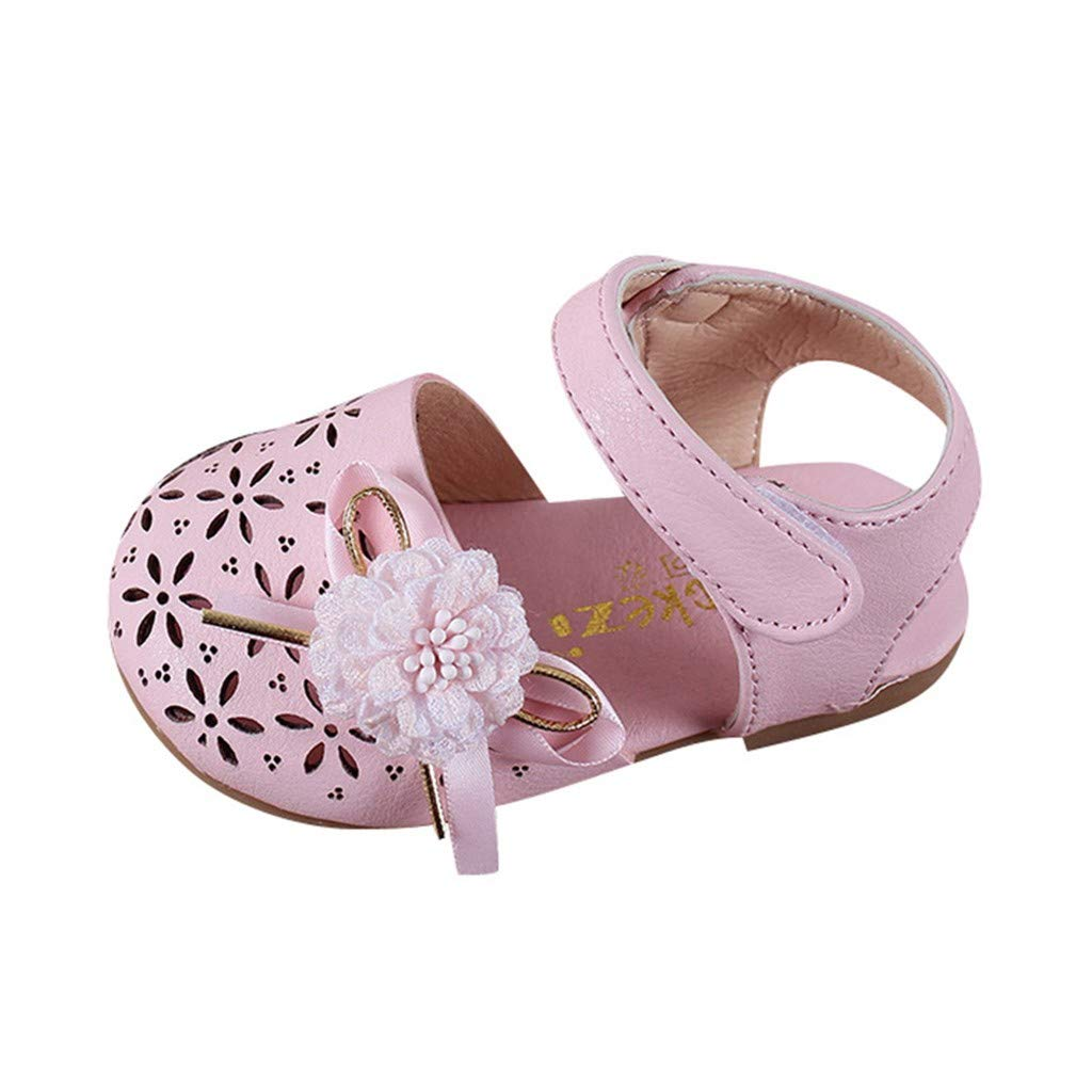 Gelaimeili Summer Infant Kids Baby Girls Elegant Flower Hallow Sandals Princess Shoes