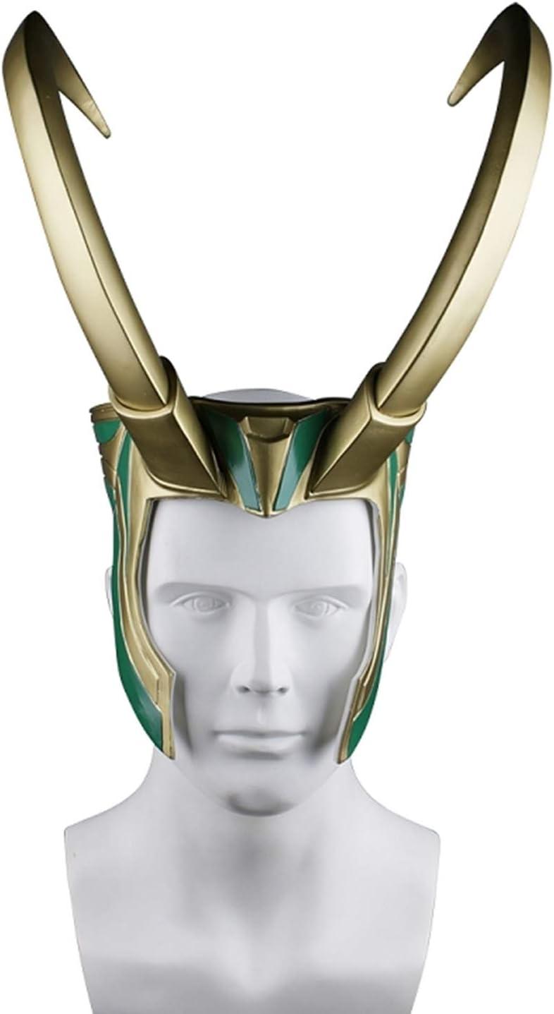 Avengers Thor 3 Ragnarok Loki Laufeyson PVC Mask Helmet Halloween Cosplay Prop