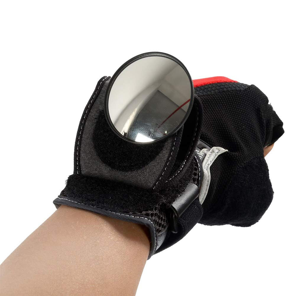 Wrist Wear Bike Mirror Portable and Bicycle Wrist Band Rear View Mirror Rearview