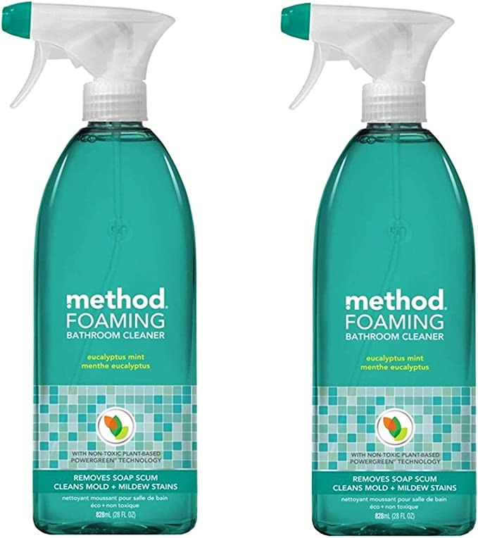 Method Tub and Tile Bathroom Cleaner, Eucalyptus Mint - 28 oz - 2 pk best natural bathroom cleaning products
