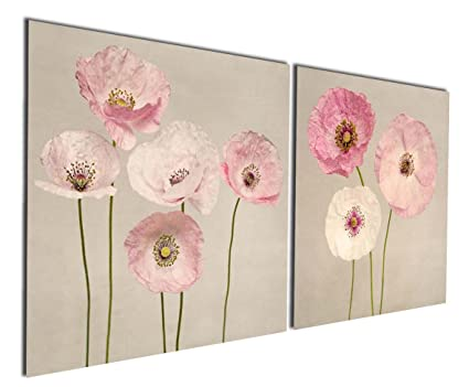 Amazon.com: Gardenia Art - Pink Flowers Modern Canvas Wall Art ...