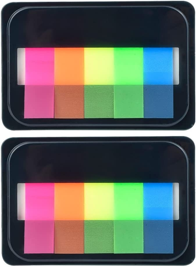 eBoot Neon Index Tabs Flags Sticky Note for Page Marker (2) : Office Products