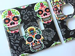 Sugar Skull Light Switch Cover Day of Th...