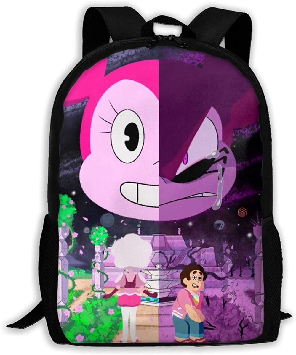 Backpack Cartoon Steven Universe Spinel Backpack Travel Laptop Bookbag Capacity Lightweight Stationery Purse Bag For Girls Boys College School Women Men Office