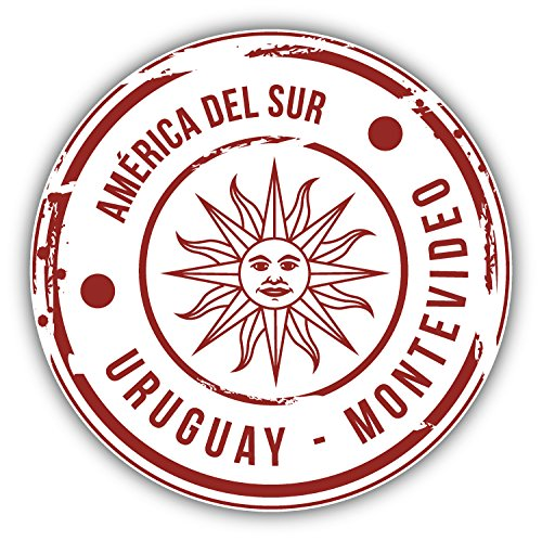 Montevideo Uruguay Grunge Rubber Stamp Travel Art Decor Bumper Sticker 5
