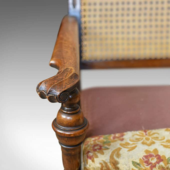 Par de sillas antiguas, conservatorias, roble, inglés, sillones ...