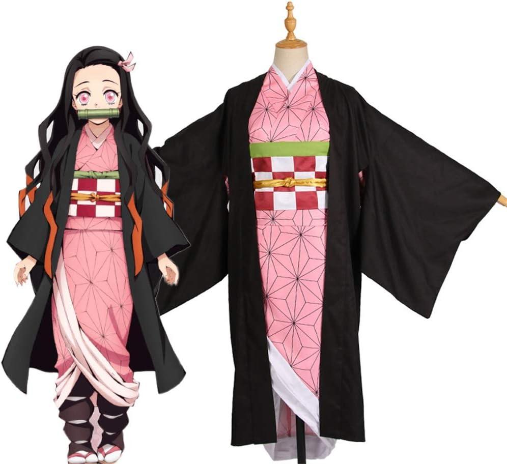 鬼滅の刃 竈門 禰豆子(かまど ねずこ) コスプレ衣装 小道具付き cosplay イベンド