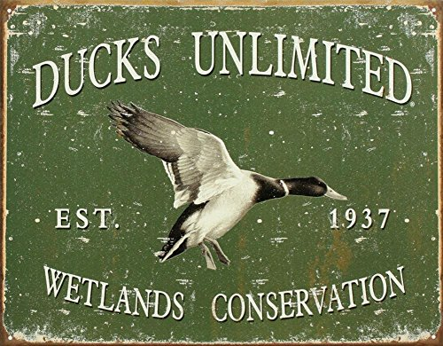 "ART/ARTWORK - Licensed Collectables [1388] - Ducks Unlimited ""Since 1937"" - Artwork/Sign Is Paint On Metal [TSFD]"