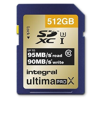 Integral UltimaPro X – Tarjeta 512 GB tarjeta de memoria SDXC de clase 10