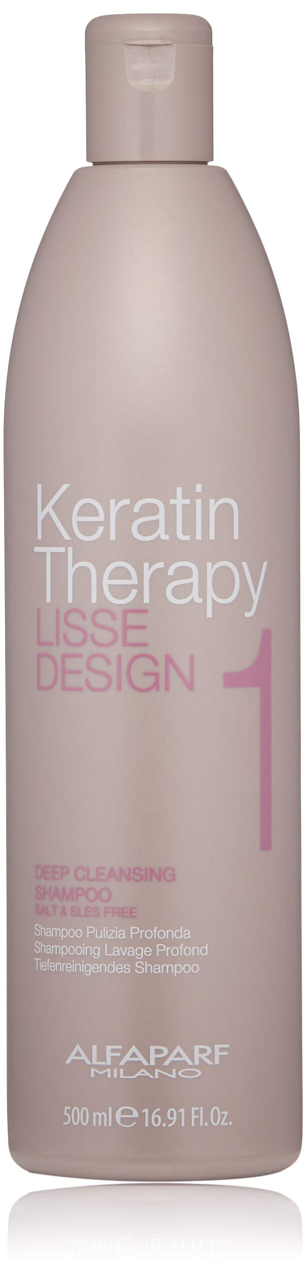 Alfaparf Milano Keratin Therapy Lisse Design Deep Cleansing Shampoo - Detangles, Opens Cuticles - Prepares Hair for Smoothing Treatment - Professional Salon Quality - 16.91 Fl Oz