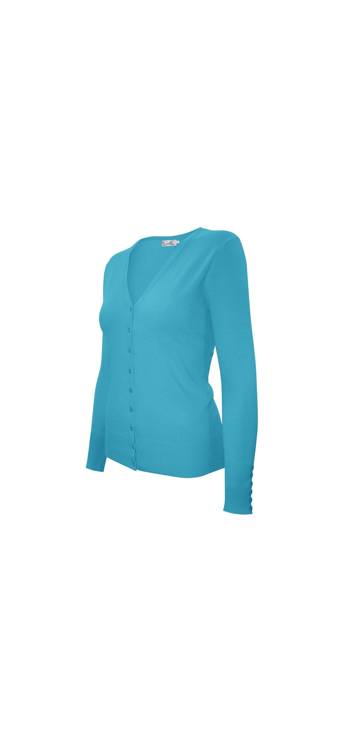 Women's Classic Knit Silk Soft Cardigan Sweater, V-neck