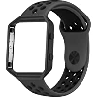 Fitbit Blaze Bands, UMTELE Sport Silicone Replacement Strap with Frame for Fitbit Blaze Smart Fitness Watch, 15 Colors Available