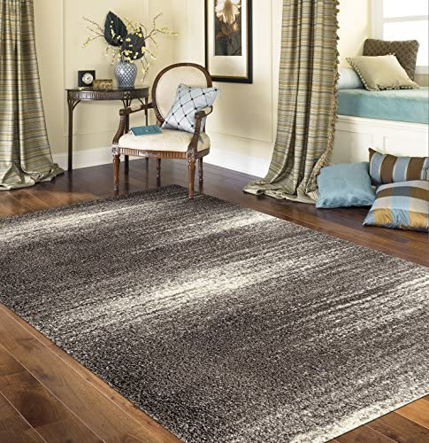 Cozy Contemporary Ombre Shag Area Rug 7'10″ X 10' Gray