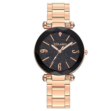 Reloj Javpoo de Acero Inoxidable - Reloj de Pulsera analógico de Cuarzo Casual para Mujer, ...