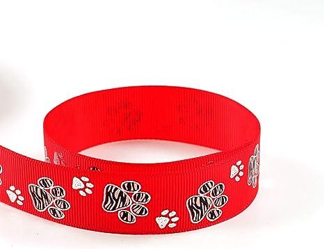 "Grosgrain Animal Print Paw Print Ribbon 7//8/"" 22mm"