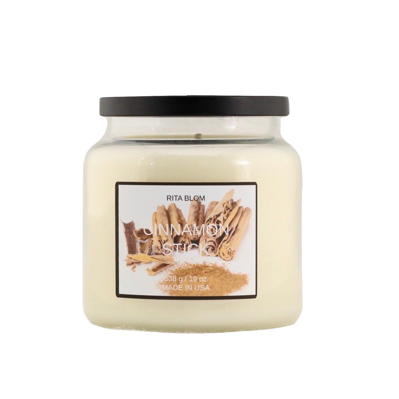Rita Blom Natural Soy Wax 19 oz Large Jar Candle Cinnamon Stick